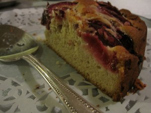 All that remained of the Plum Cake